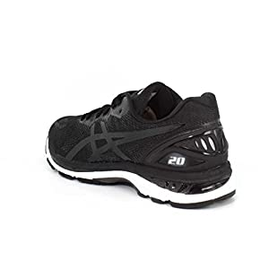 ASICS Men's Gel-Nimbus 20 Running Shoe, Black/White/Carbon, 10 2E US