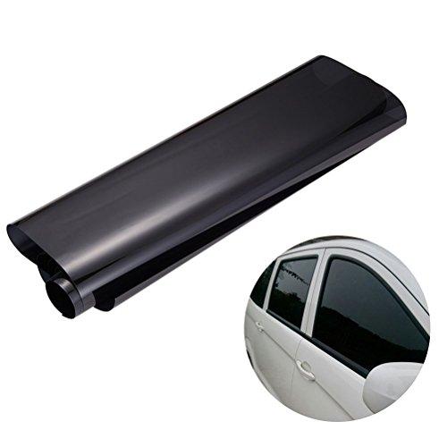 Película de vinilo tintado para cristal de coche, de la marca Winomo, 0,5 cm x 3 m, para privacidad y reducción de calor, color negro