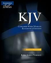 KJV Concord Wide Margin Reference Bible, Black Calf Split Leather, KJ764:XM