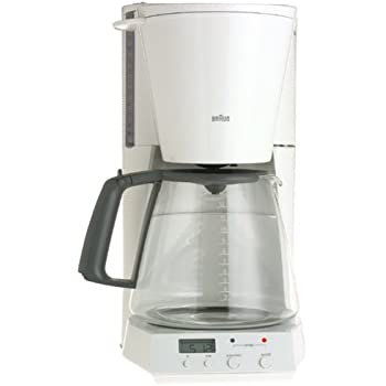 Braun KF180-WH FlavorSelect 12-Cup Coffeemaker, White