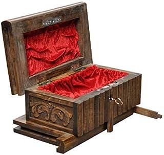 صندوق السحر السري المصنوع يدويًا من خشب الجوز من توبيبو مع مفتاح مخفي كبير بني