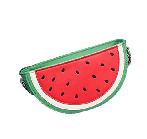 TUDUZ Orange Tasche Wassermelonen Tasche für Mädchen Damen Crossbody Kette Schultertaschen Umhängetasche Sweet Sommer Strand Messenger Bags(Grün)