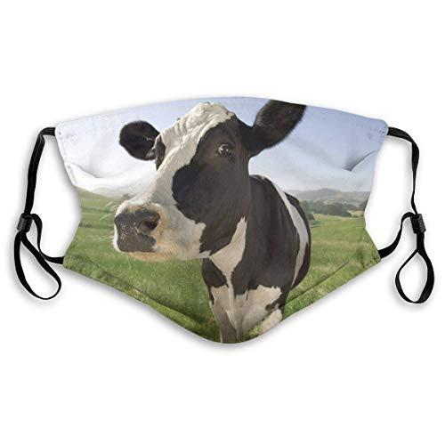 Bequemes bedrucktes Ma-sk, süße Kuh, Winddichte Gesichtsdekorationen für Mann und Frau