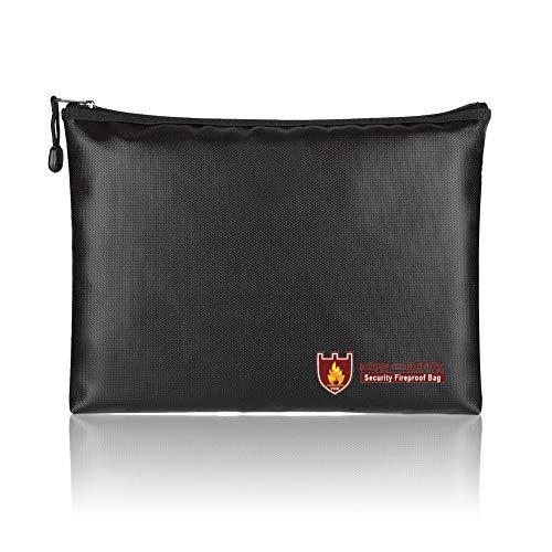 TsunNee - Borsa per documenti a prova di fuoco, impermeabile, a prova di fuoco, 24,1 x 34,3 cm