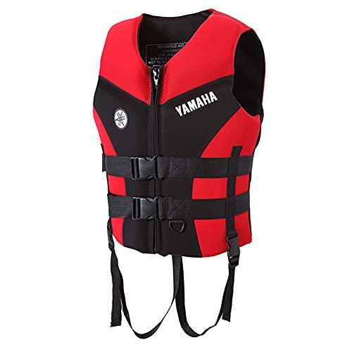 MYAOU Chalecos Salvavidas para Mujeres Adultas, Hombres, Ayuda a la flotabilidad en Kayak, Chaleco Salvavidas de Seguridad Flotante, Dispositivo de flotación Personal,Rojo,3XL