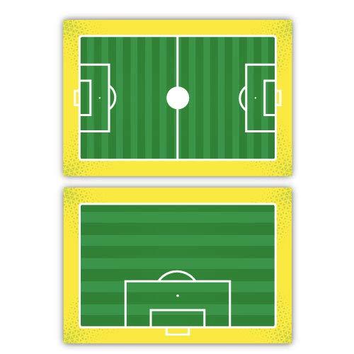 Haberdashery Online Pizarra Deportiva Doble Cara Táctica. Fútbol. Tabla de Entrenamiento Personalizada Logotipo de Equipo.