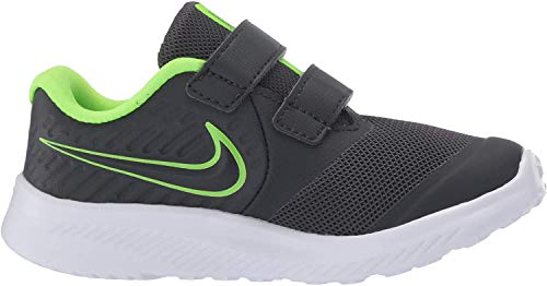 Nike Unisex Baby Star Runner 2 (TDV) Sneaker, Grau (Anthracite/Electric Green-White 004), 26 EU