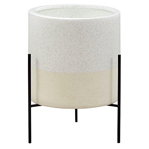 Amazon Brand – Rivet Mid-Century Ceramic Planter with Stand, 17