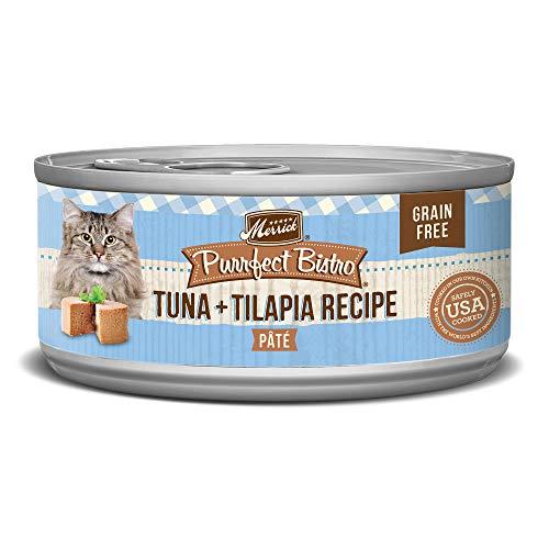 Merrick Purrfect Bistro Grain Free, 5.5 oz, Tuna & Tilapia Pate - Pack of 24