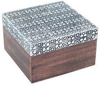 Art Deco Home - Caja Madera Cuadrada 10 cm - 14854SG: Amazon.es: Hogar