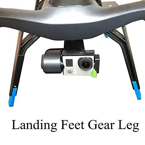 Luccase Blau 3D Gedruckt Verlängerungsbeine Landing Feet Gear Beinstrecker Set Protector Erhöhen Kompatibel mit 3DR Solo RC Drone