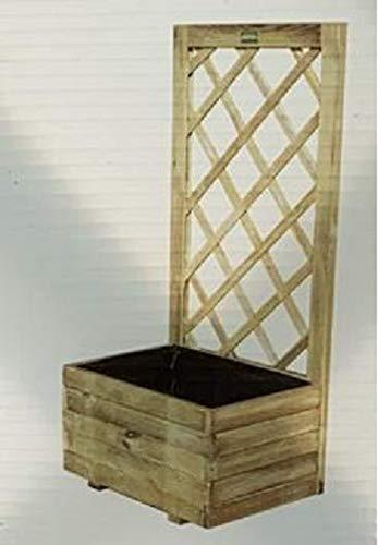 A2Z Home Solutions New Ractangular Large Lattice Planter Pot With Wooden Trellis Climbing Plants Flowers Herbs Outdoor Garden