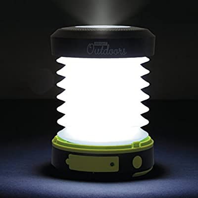 Bright Outdoors Solar Camping Lantern, Flashlight and Emergency Powerbank - USB Rechargeable, Portable and Collapsible. Ideal Safety, Patio or LED Night Light! Available in 800 or 1800 mAh power