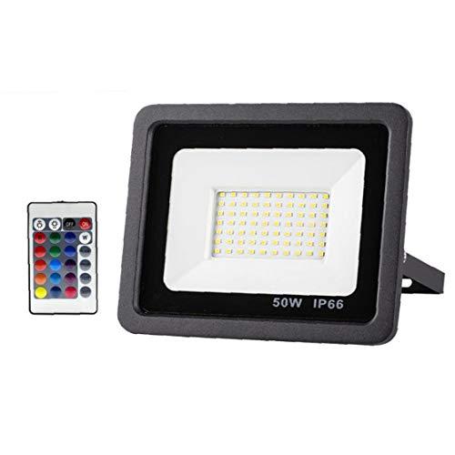 Hotaden Proyector de luz LED de Seguridad Reflector al Aire Libre 50W de iluminación LED a Prueba de Agua para el jardín Patio Delantero del Garaje Pared del Patio