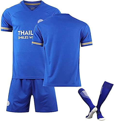 SXMY Leicester Home Fußball-Uniform, Vardy 9# Mahrez 26# Maddison #10 Trikot, personalisierbar, Polyester, Geschenk (Größe: L, Farbe: Blau)