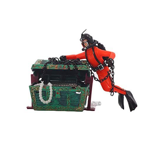 inherited Della Decorazione Acquario Ornamento, Undersea Scrigno del Tesoro per la Decorazione dell'acquario Divertenti Accessori Decorativi per acquari