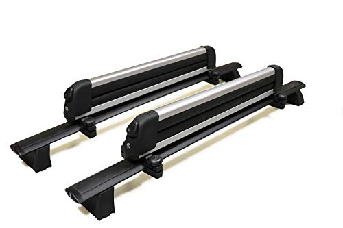 BRIGHTLINES Crossbars & Ski Rack for up to 6 Skis or 4 Snowboards Combo Compatible with 2011-2021...