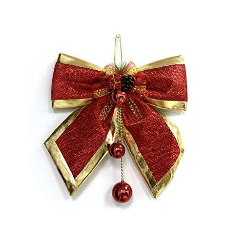 allgala Christmas Decorative Bows for Wreath Garland Treetopper Christmas Tree (14\' Large 1-PK)-XBW93042