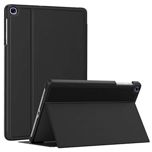 Soke Hülle für Samsung Galaxy Tab A 10.1 2019 (SM-T510/T515), Folio Ständer Ultraleicht TPU Schutzhülle für Galaxy Tab A 10.1 Zoll 2019, Schwarz