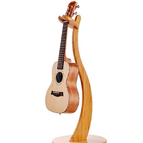 ギタースタンドロックヘッドウッドギターは折り畳み式の首を持つシングルエレクトリックアコースティックギターを保持スタンドエレキギター、アコースティックギター、エレキベース等でご使用いただけます(Color:Yellow,Size:103x30CM)