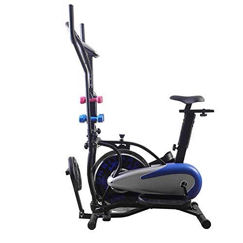 Bicicleta Giratoria Pantalla Led Bicicleta Fitness Bicicleta De Ejercicio Interior Hogar Bicicleta Silenciosa Equipo De Fitness Puede Hacer Ejercicio En Casa (Color: Azul, Tamaño: 95X22.5X67Cm) Inter