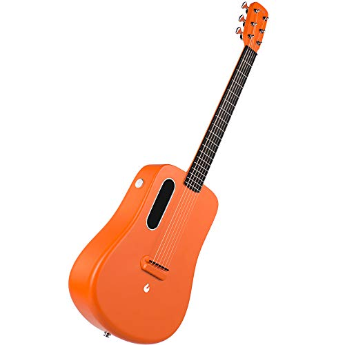 XBSD Traveller-Gitarre, Natural 6-saitige Gitarre, Advanced Carbon Fibre, Top-Gitarre Spielen Sie mit Effekten, ohne einen schweren Verstärker anzuschließen.