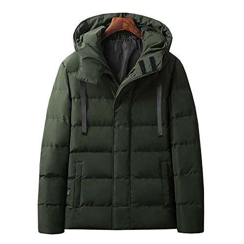 WSJF Chauffage électrique Gilet Chauffant Lavable Gilet à Capuchon Chauffage électrique Men Down Jacket Cotton Suit la Smart USB de Recharge Manteau d'hiver Chaud (Couleur : A, Size : M)