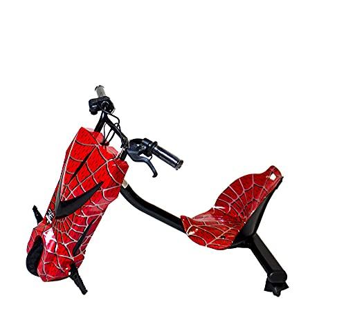 Gran-Scooter / Patinete con Silla Boogie Drift 36D (250W, Batería Litio, 3 Velocidades, Vel. Máx 15km, Luz Delantera, Pantalla LCD) – Spiderman