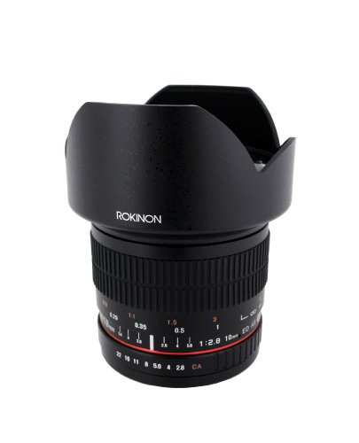 Rokinon 10mm F2.8 ED AS NCS CS Ultra Wide Angle Lens for Nikon Digital SLR Cameras with AE Chip for Auto Metering (10MAF-N)