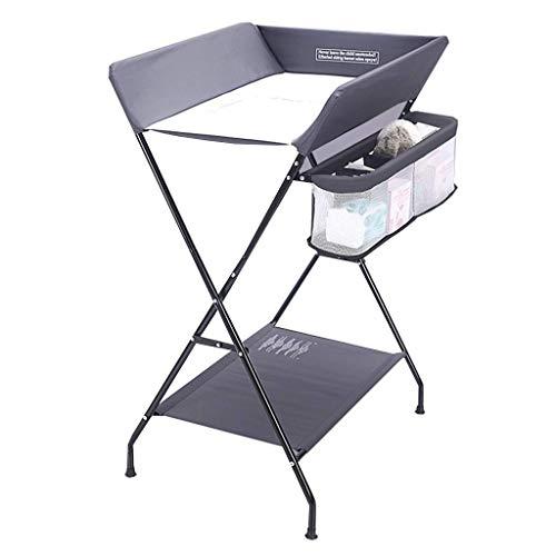 N/Z Table d'équipement de Vie Table Pliante Station de Couches pour bébé Portable Enfants Unité de Commode pour bébé Organisateur de Rangement pour pépinière pour bébé (Couleur: Rose)