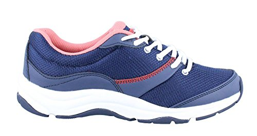 Vionic Women's Action Kona Lace-up Walking Fitness Shoes - Ladies Sneakers with Concealed Orthotic Arch Support Navy 7 Medium US