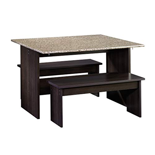 Sauder 413854 Beginnings Table with Benches, L: 47.17' x W: 35.75' x H: 29.02', Cinnamon Cherry finish