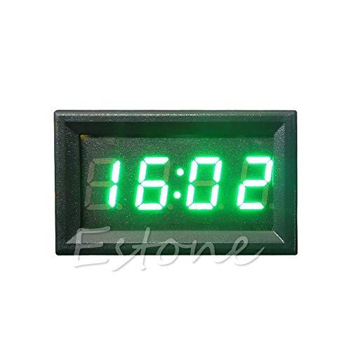 JOYKK Pantalla de Reloj Digital del Tablero de Accesorios de la Motocicleta para Auto 12V / 24V - Azul