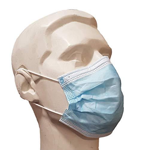 Mascarillas faciales de 3 capas, tipo IIR certificado, repelente de líquidos, 50 máscaras