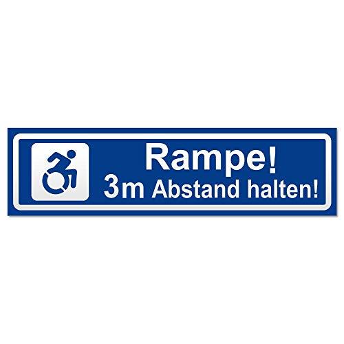Kiwistar Rampe Motiv 3m Abstand invertiert Hinweis Aufkleber Sticker laminiert wetterfest