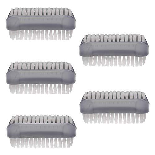 PARSA 5er Pack/Stück doppelseitige Bürsten Grau im Set Nagelbürsten/Handwaschbürste für Bad,...