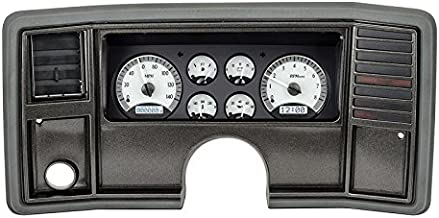 Dakota Digital 78 -88 Chevy Monte Carlo Analog Dash Gauge System Silver White VHX-78C-MC-S-W