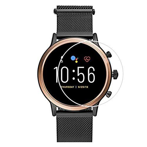 Für Fossil Gen 5 Q Venture HR Smartwatch Schutzfolie,Colorful Panzerglas Folie Bildschirmschutzfolie Screen Protector 9H Festigkeit [HD-Klar] [Blasenfreie] Glasfolie Tempered Glass Film (3 Stück)