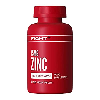 Zinc 15mg - 365 Tablets (12 Month's Supply) - High Strength Easy to Swallow - Vegan and Gluten Free
