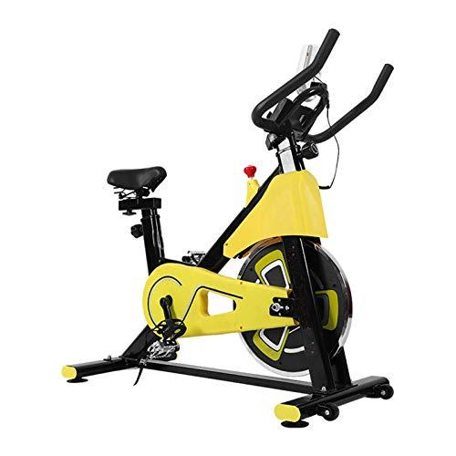 PPLAS Inicio Gym Ultra-silencioso Deporte Spinning Bike Pérdida de Peso Ciclismo Ejercicio Equipo de Aptitud Interior (Color : Black Yellow)