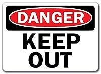 ヴィンテージスタイルのメタルサイン、危険サイン-立ち入り禁止、ヴィンテージメタルティンサインプラークウォール広告カフェバーパブパティオガレージオフィスアウトドアルームホテルホームデコレーション
