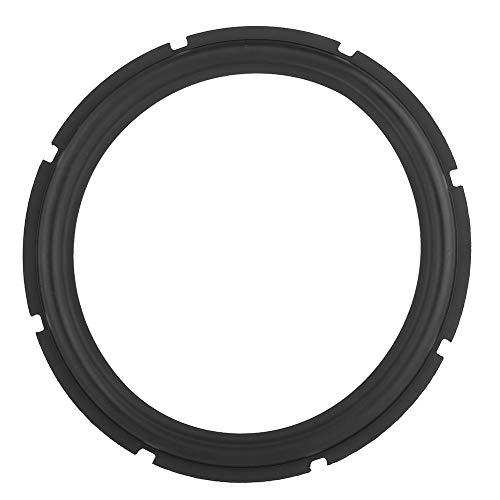 Haut-parleur en caoutchouc perforé de 12 pouces avec bord en mousse, pour caisson de basses surround et pièces de rechange pour la réparation du haut-parleur ou le bricolage (noir)