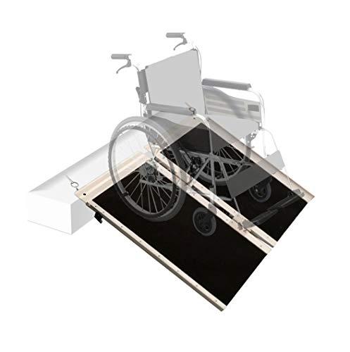 Hapelo Single Multi-Fold Non-Skid Aluminum Scooter Mobility Wheelchair Ramp