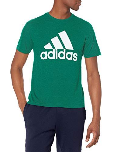 adidas mens Tri-Blend Short Sleeve Tee Dark Green/White XX-Large