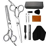 Nicknocks 10PCS Professional Hair Cutting Kit Barbers Tools Set for Men Women Adults Kids Salon Hairdressing