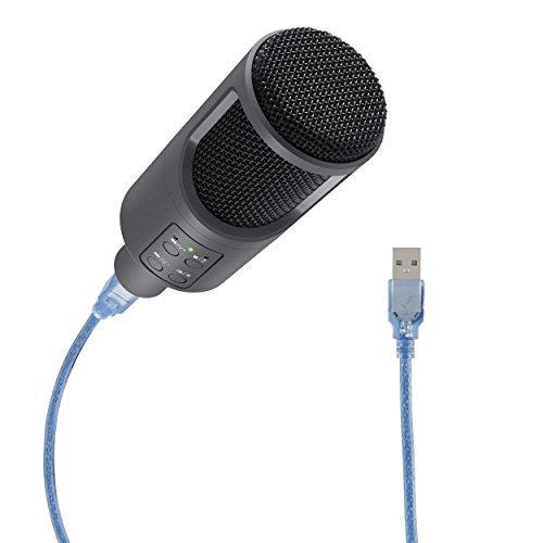 MICRÓFONO PROFESIONAL USB DE CONDENSADOR PARA PC