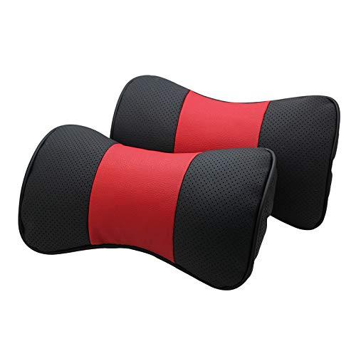 AOWIFT 1 almohada de cuero para reposacabezas de coche Chery para cuello, producto de piel de vacuno (sin marcar, 26,5 x 16,5 x 8)