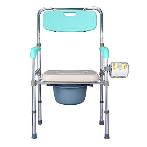 Z-SEAT Faltbare Kommode am Bett, höhenverstellbarer Kommode am Bett und Sicherheitsrahmen, breiter Toilettenstuhl für ältere Menschen