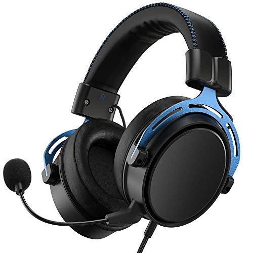 SFBBBO Headset Gaming-Headset 3,5-mm-Kabel-Headset Surround-Sound-Gaming-Kopfhörer mit Mikrofon Blueandblack