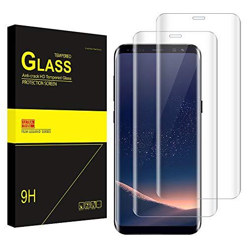 Bodyguard [2 Stück] Panzerglas Schutzfolie für Samsung Galaxy S8, 9H Härte, 3D Rand Hüllefreundlich, Anti-Kratzer Anti-Öl Bläschenfrei HD Ultradünn Displayschutzfolie für Samsung S8